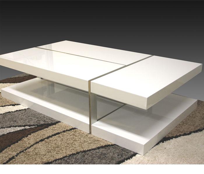 Annika White Gloss Coffee Table: White High Gloss Zuchi Coffee Table