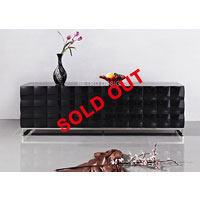 2m Black High Gloss Tiarra Buffet