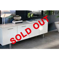 2m White High Gloss Jamerson Buffet