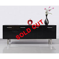 2m Black High Gloss Jamerson Buffet