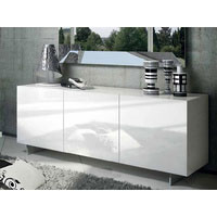 1.8m White High Gloss Oxford Buffet