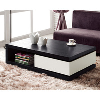 Ellana Coffee Table With Shelf and Drawer