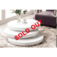 Artisco Round Coffee Table In White Gloss