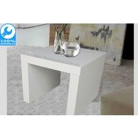 White Gloss Retro Side Table