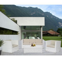 Selina 5 Seater White Wicker Outdoor Furniture