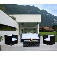 Selina 5 Seater Wicker Outdoor Furniture Black