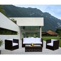 Selina 5 Seater Brown Wicker Outdoor Furniture
