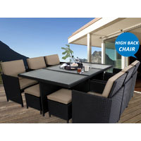 Centra 12 Seater Wicker Outdoor Dining Furniture
