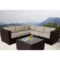 Brown Ellana Outdoor Corner Lounge Suite