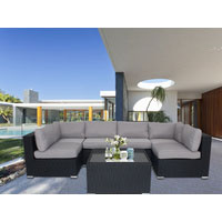 Majeston Black Modular Outdoor Furniture Lounge