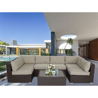 Majeston Brown Modular Outdoor Furniture Lounge