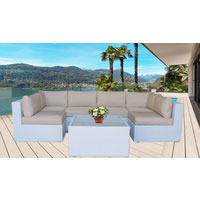 Majeston White Modular Outdoor Furniture Lounge