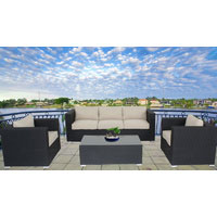 Black Brighton Balcony Outdoor Lounge Suite