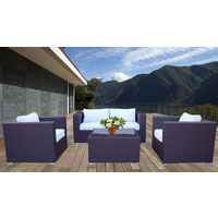 Brown Osiana 5 Piece Outdoor Furniture