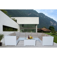 White Grand Jamerson Modular Outdoor Furniture Setting