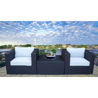 Black Modena 3 Piece Outdoor Setting