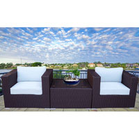 Brown Modena 3 Piece Outdoor Setting