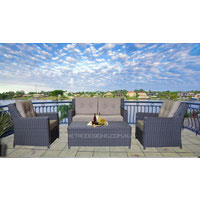 Azara 4 Seater Wicker Outdoor Furniture