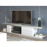 White Metro High Gloss TV Cabinet