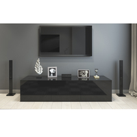 1.8m High Gloss Black Suprilla TV Unit