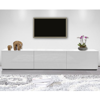 1.8m High White Gloss Suprilla TV Unit