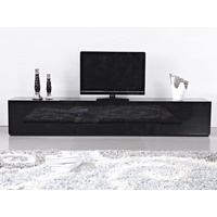 2.4m High Gloss Black Suprilla TV Unit