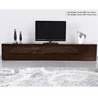2.4m High Gloss Brown Suprilla TV Unit