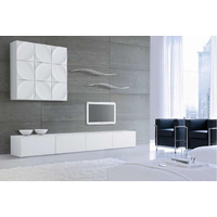2.4m High White Gloss Suprilla TV Unit