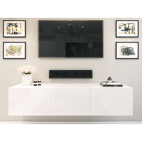 1.8m Majeston White Floating TV Cabinet