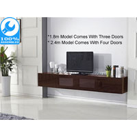 2.4m Brown Glacia Floating TV Unit