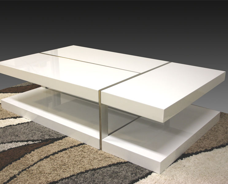 White High Gloss Zuchi Coffee Table