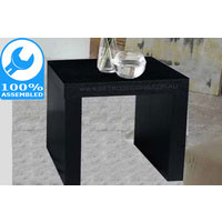 Black Oak Retro Side Table