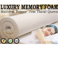 Memory Foam Mattress Topper 7CM Thick Queen