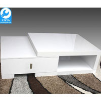 White High Gloss Retro Coffee Table