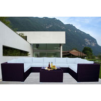 Brown Grand Jamerson Modular Outdoor Furniture Setting