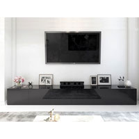 3.6m High Black Gloss Suprilla TV Unit