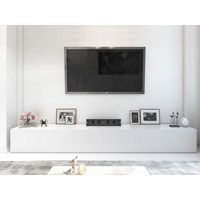 3.6m High White Gloss Suprilla TV Unit