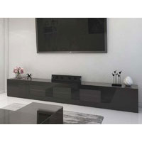 3m High Black Gloss Grandora TV Unit