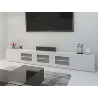 3m High White Gloss Grandora TV Unit