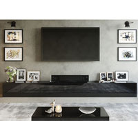 4.2m High Black Gloss Suprilla TV Unit