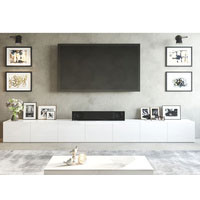 4.2m White Suprilla TV Unit