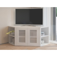 Olympia White Corner TV Unit