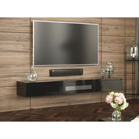 Black Expressia Wall Mounted TV Cabinet