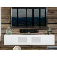 2.4m White Glacia Floating TV Unit