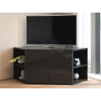 Zenova Black Corner TV Entertainment Unit