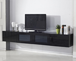 Black Glacia Floating TV Unit