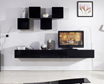 Galaxi Black Wall Mounted TV Cabinet