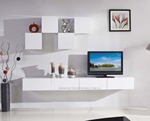 Galaxi White Wall Mounted TV Cabinet